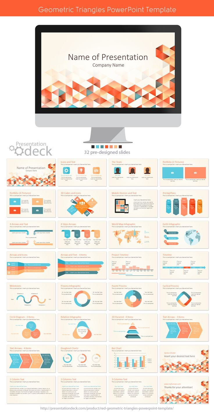 The 27 best abstract powerpoint templates images on pinterest geometric triangles powerpoint template with 32 pre designed slides powerpoint presentation toneelgroepblik Images