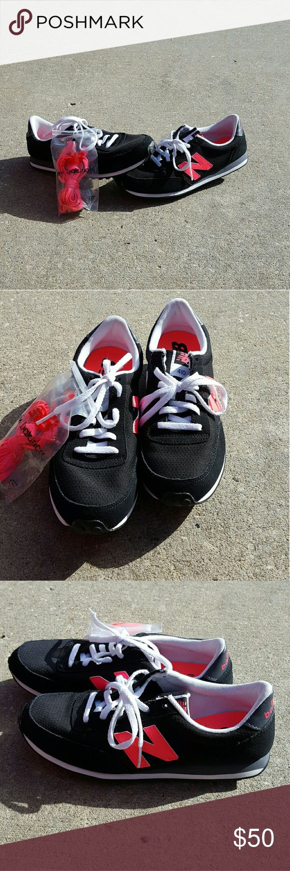 Nwob New Balance black and pink sneakers New without box Never worn Size 7 Comes with extra laces No Trades New Balance Shoes Athletic Shoes