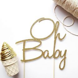 Package includes 1 x Handcrafted Glitter Cake Topper  Colour: Antique Gold   Material: High Quality Cardstock