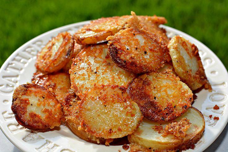 4 Yummy Recipes |   Crispy Crunchy Parmesan Potatoes