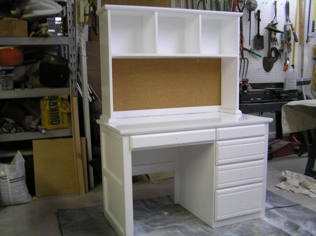 Best Computer Desk Images On Pinterest Desk Hutch Office - Computer desk with hutch plans