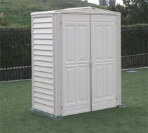 5x3 YardMate Vinyl Storage Shed With Foundation Kit (On Special) - $479.99