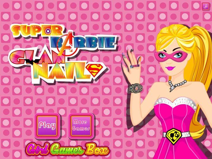 Skup się na paznokciach Barbie, która po wyczerpującej służbie w końcu będzie mogła zadbać o siebie  http://www.ubieranki.eu/gry/3846/super-barbie-_-paznokcie.html