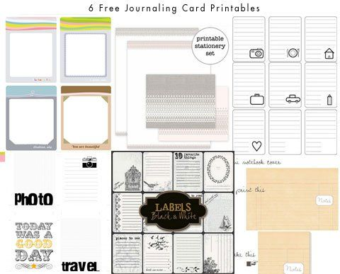 6 Free Printables Journaling Cards for Project Life Project365