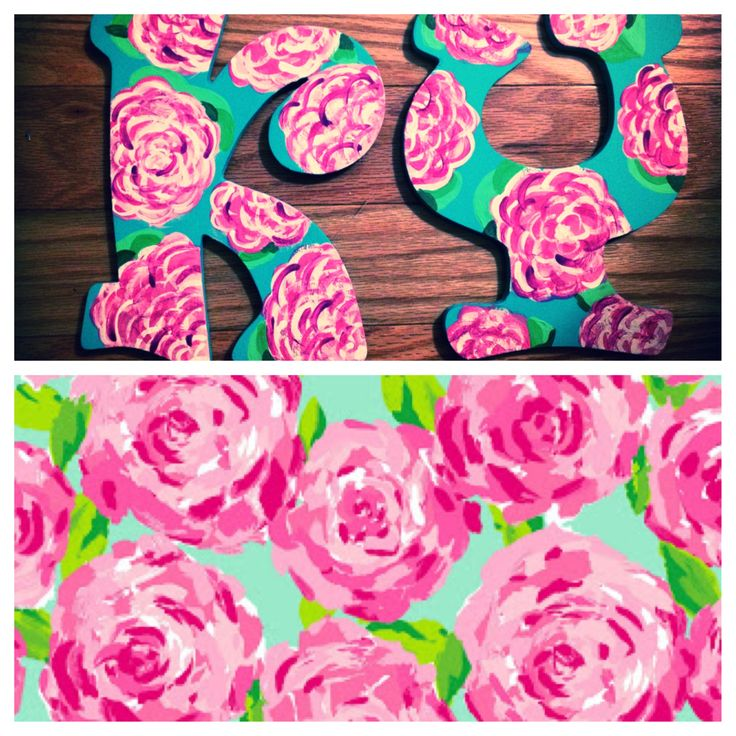 sorority craft kappa psi wood letters lilly pulitzer inspired