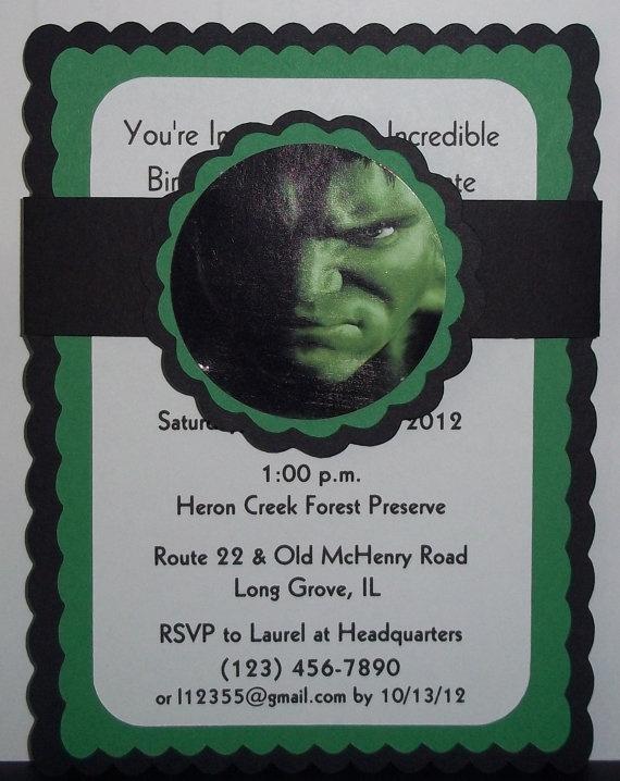 Hulk Birthday Invitations by mimskd on Etsy, $10.00
