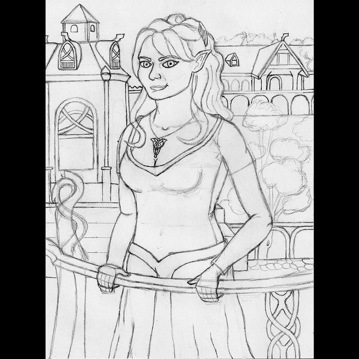 Elf princess in Rivendell | ballpoint pen drawing |2011 on Behance