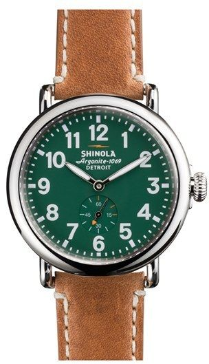 Shinola 'The Runwell' Leather Strap Watch, 41Mm Buy Now Affiliate