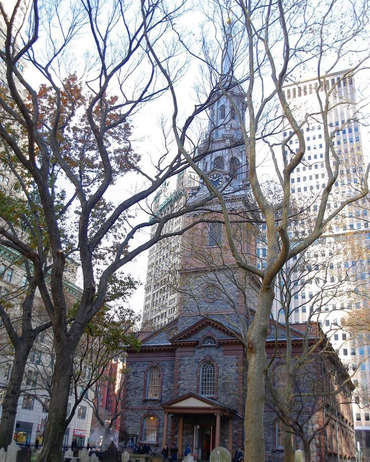 // Saint Paul's Chapel At the foot of the World Trade Center this church miraculously suffered no damage during the 9/11 attacks  #church #stpaul #NYC #newyork #trees #911 #worldtradecenter #canon #canon_photos