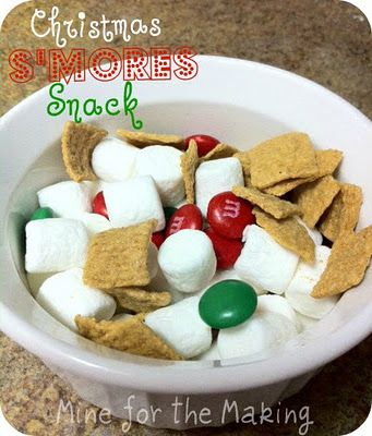 Christmas Smores Snack For A Movie Night