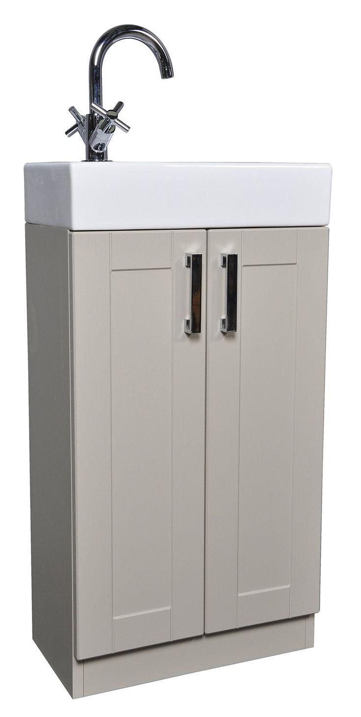 Grey Green Shaker 450mm Cloakroom Bathroom Vanity Unit Rectangular Basin Sink Tap - Left Hand Basin Spout Tap: Amazon.co.uk: Kitchen & Home