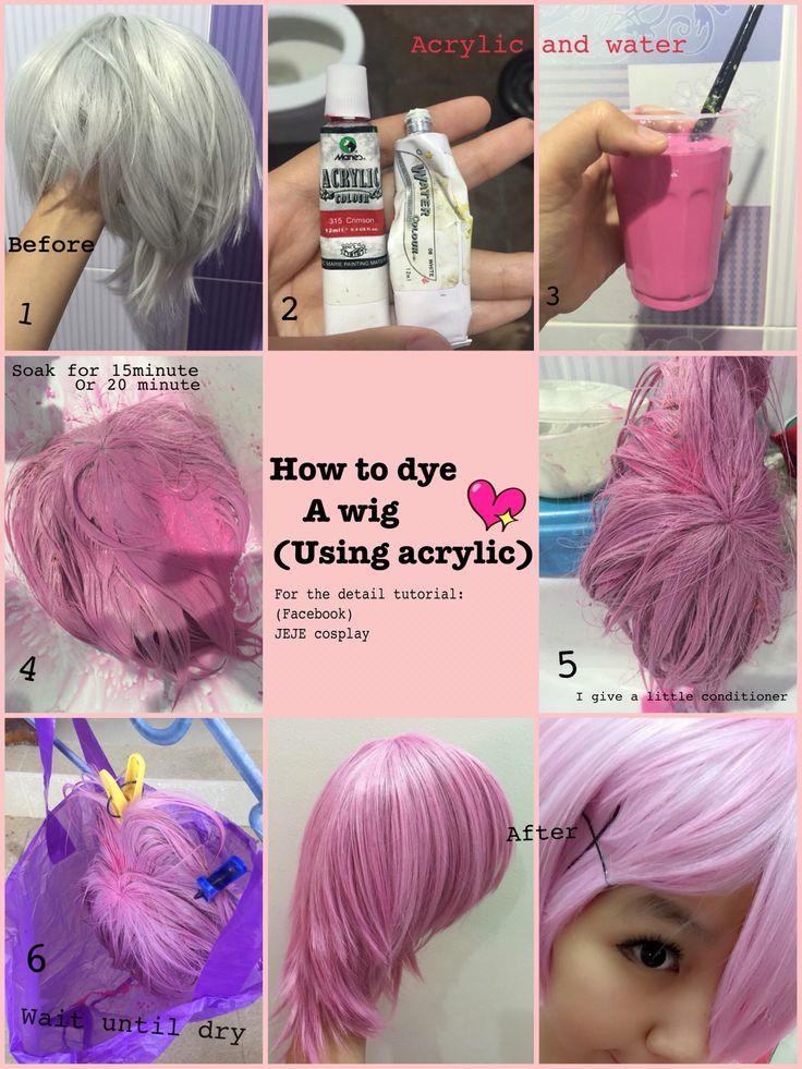 #dye #wig #acrylic #water #howto #diy