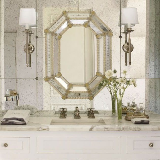201 best venetian mirrors images on pinterest for Glass mirrors for bathrooms