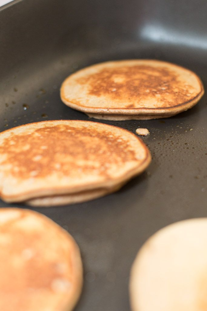 Paleo Pancakes from the civilized caveman --     3 bananas, 3 eggs,    1/2 cup nut butter,  2 teaspoons cinnamon