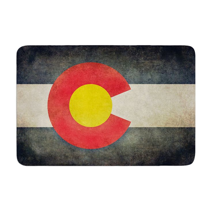 KESS InHouse Bruce Stanfield State Flag of Colorado Memory Foam Bath Mat - BS1002ABM01