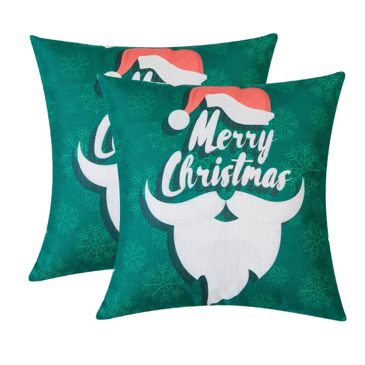 throw pillow case decorative cushion cover christmas santa claus toss cover shell for couch sofa bed