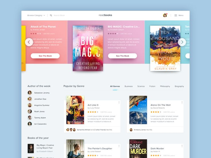 @MaterialUp : Book Store Website   User interface by @dwinawan #concept  https://t.co/bL8bsygqHs https://t.co/iHHAJ4IbJT