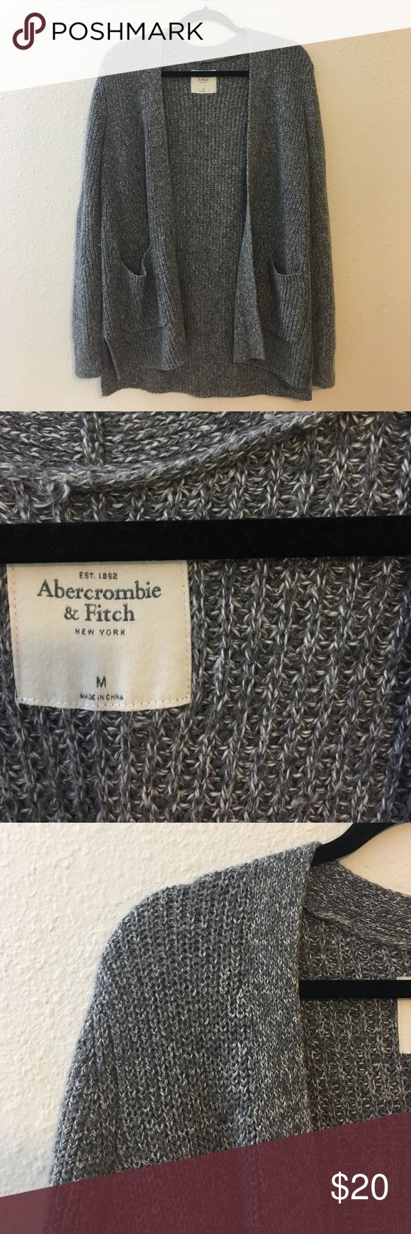 Abercrombie and Fitch Grey Cardigan Thick material, good for staying warm ∙ worn a few times ∙ perfect with leggings Abercrombie & Fitch Sweaters Cardigans