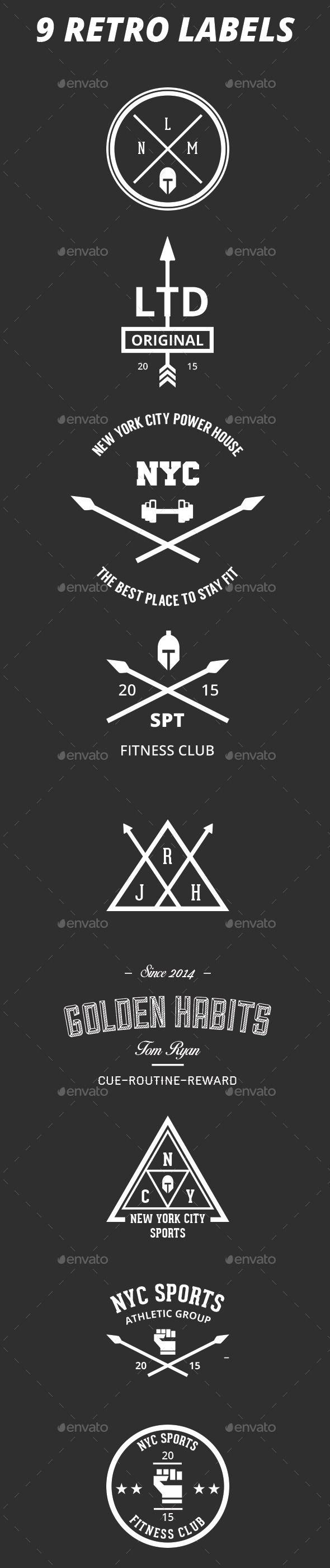 9 Retro Badges