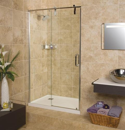 Roman Sculptures Alcove 1600mm Sliding Door   ST16A   Shower Enclosures    Doble Bathrooms Direct