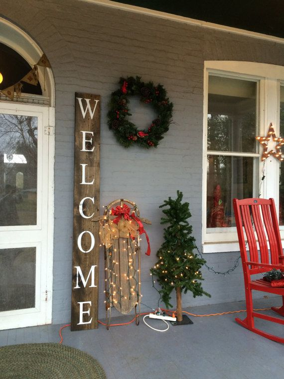 Welcome Sign...Hand Crafted in the USA by ClintonRustics on Etsy
