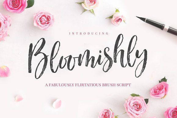 Bloomishly Brush Font by Nicky Laatz on @creativemarket