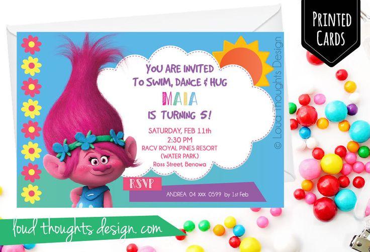 Trolls Princess Poppy Birthday Invitation/ Trolls Birthday Invite/ Digital Trolls Birthday Invitation/ Personalised Trolls Party/DIY Invite by LoudThoughtsDesign on Etsy https://www.etsy.com/au/listing/550914235/trolls-princess-poppy-birthday