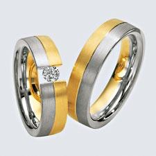 Verighete din aur alb si aur galben si briliante. Pot fi realizate din aur alb, aur galben sau aur roz. La cerere sunt posibile şi alte modificări.