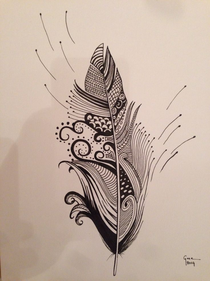 Feather ink Handdraw