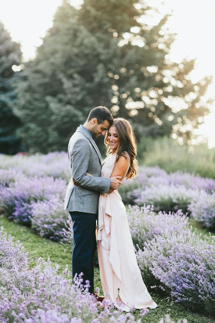 Michael + Gen | Lavender Field Engagement