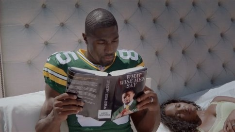Greg Jennings Gets Up on Wrong Side of Bed in Latest Old Spice Ad Stuck between business and pleasure