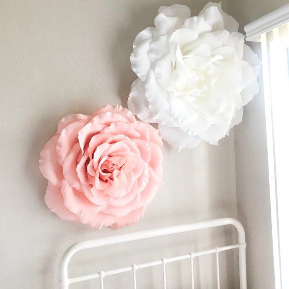 Giant Paper Rose Crepe Paper Rose Paper Flowers Nursery Wall Decor