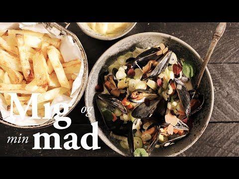 Moules frites / Muslinger m. Ovnbagte pommes frites og aoli.