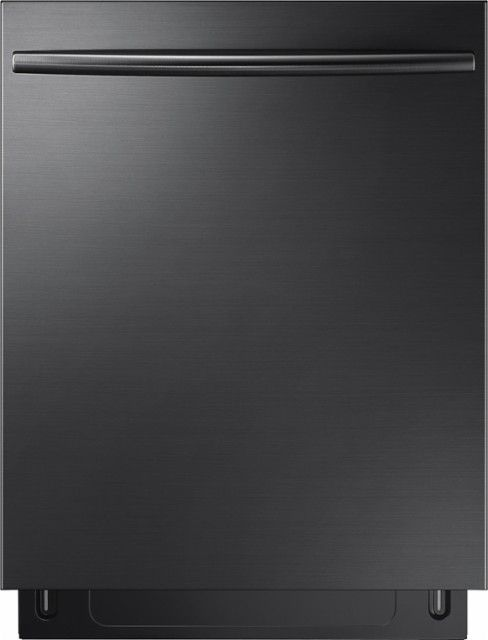 """Samsung - StormWash™, 3rd Rack, 24"""" Top Control Built-In Dishwasher - Black stainless steel - Front_Zoom"""