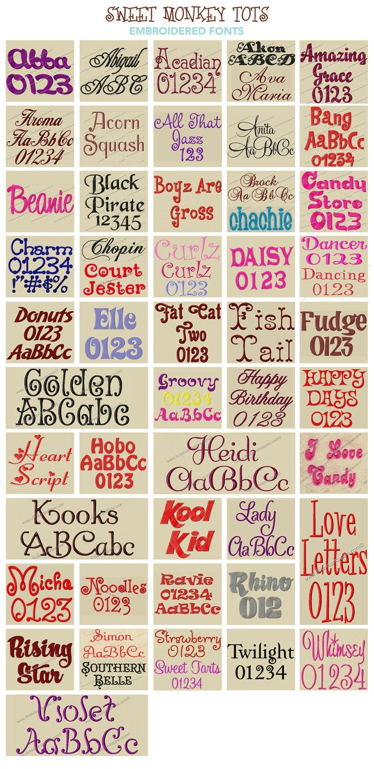 25  best ideas about embroidery fonts on pinterest