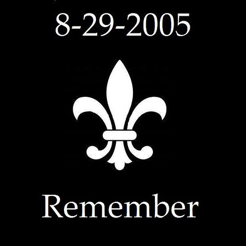 Hurricane Katrina New Orleans Louisiana. I have this date tattooed on my ankle with the words Lassiz Les Bon Temps Rouler.