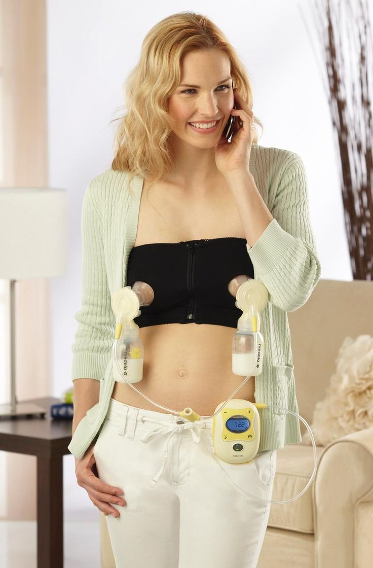 Amazon.com : Medela Easy Expression Hands-Free Bustier, Black, Medium : Electric Double Breast Feeding Pumps : Baby