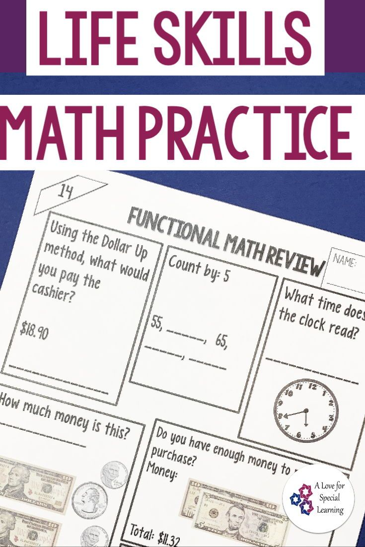 Functional Math Practice In The Classroom Money Math Worksheets Consumer Math Math Skills Practice