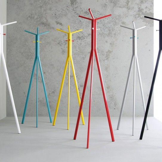 minimalistischer Stil - Design Standgarderobe Inwerk Seven  - Bunte Garderoben der Serie Seven in verschiedenen Farben - (Bild 1 von 14)