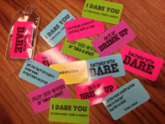 SALE Bachelorette Party Game Dare Cards by DeighanDesign on Etsy