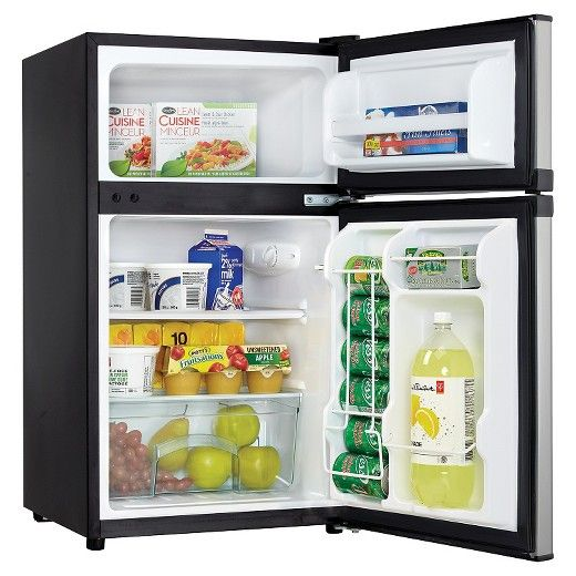 Having separate fridge and freezer units is definitely the way to go these days. You get that convenient combination and much more with this splendid dual-door compact refrigerator by Danby. This model offers 3.1 cu. ft. of cooling and freezing capacity and is Energy-Star compliant to help keep electricity costs as low as possible. The popular appliance is a perfect match for apartments, rec-rooms, bars, cottages and offices. It has a high-tech mechanical thermostat to make sure your foods…