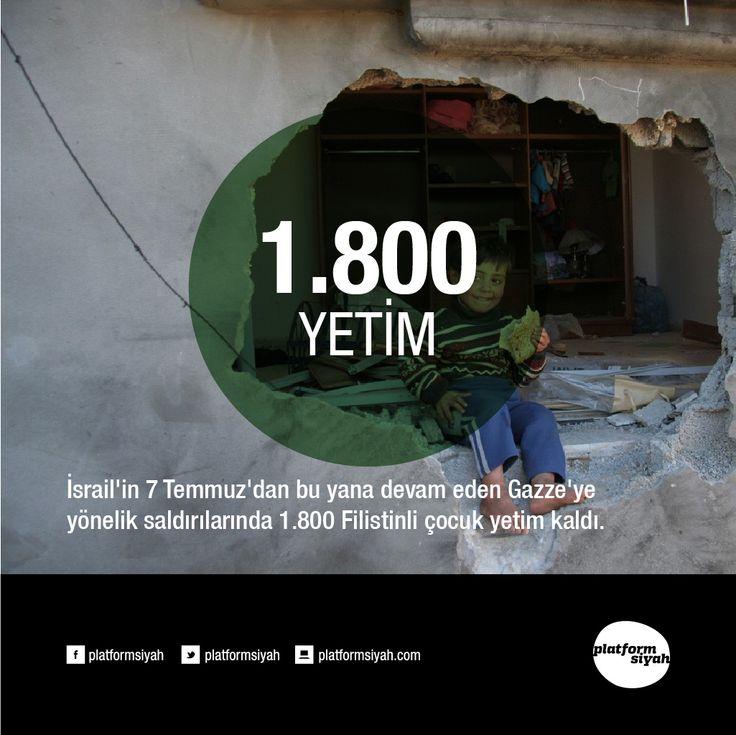 İsrail'in 7 Temmuz'dan bu yana devam eden Gazze'ye yönelik saldırılarında 1.800 Filistinli çocuk yetim kaldı.