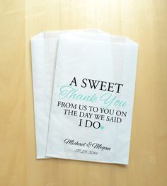 Wedding Candy Bags Buffet Personalized Favor Treat Bar Custom Favors