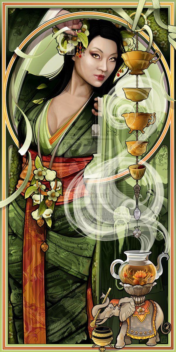 Huchi-Fuchi/Unchi-Ahchi (JAPANESE) Goddess of the stove and thus the goddess that heats the tea.