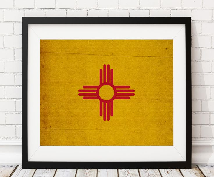 New Mexico Flag Art, New Mexico Flag Print, Flag Poster, State Flag, Flag Painting, New Mexico Art, Housewarming Gift, State Pride by FatFrogPrints on Etsy https://www.etsy.com/listing/495194139/new-mexico-flag-art-new-mexico-flag