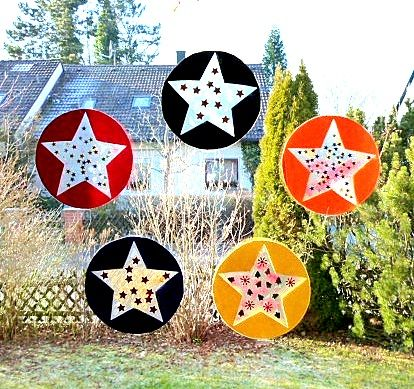 Fenstersterne aus Klebefolie - Weihnachten-basteln - Meine Enkel und ich - Made with schwedesign.de