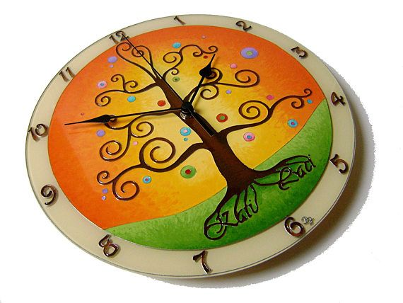 Personalized Wedding Gift Wall Clock Tree of Life Large