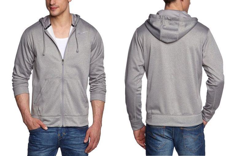 NIke Fleece Hoodie KO 2.0 Zip-Front Performance grey solid men's size M, L NEW #NIke #Hoodie