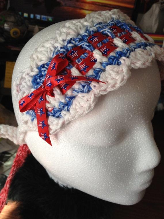 4th of july crochet wreath