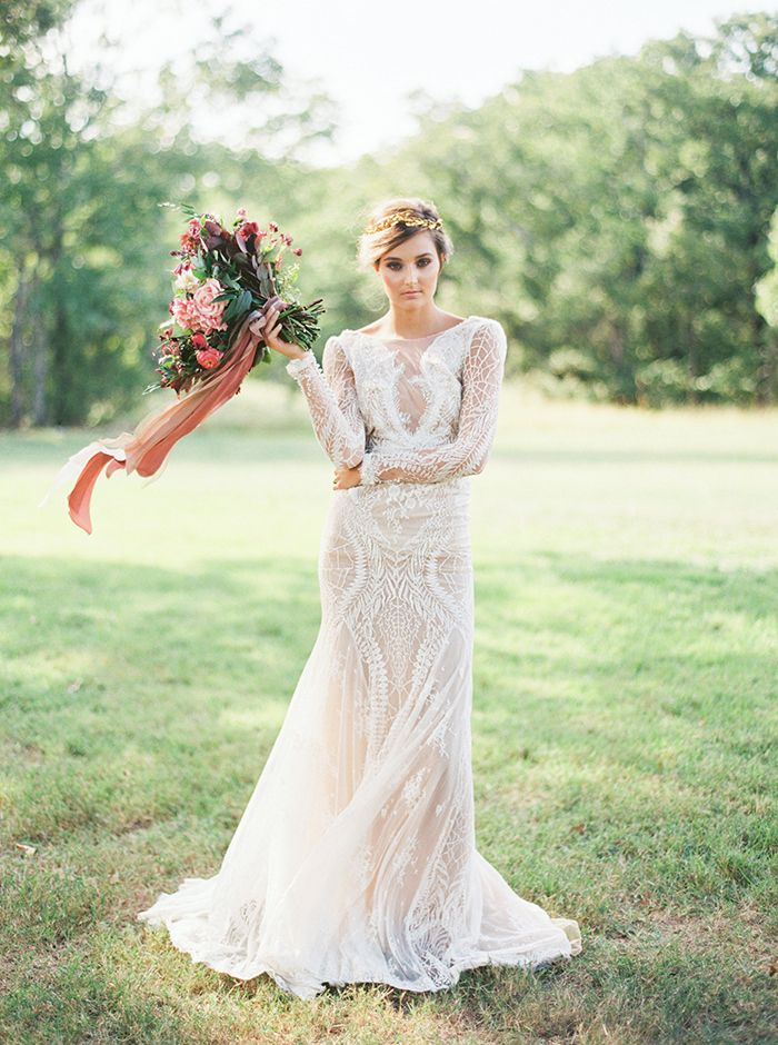 Sexy Long Sleeve Lace Wedding Dress. | mysweetengagement.com